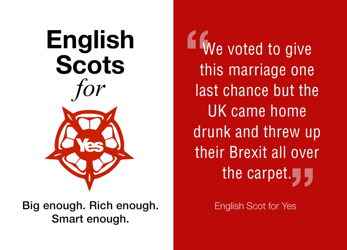 'English Scots for Yes' posters